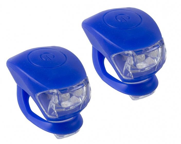 M Wave Verlichtingsset LED Blauw 2 Stuks