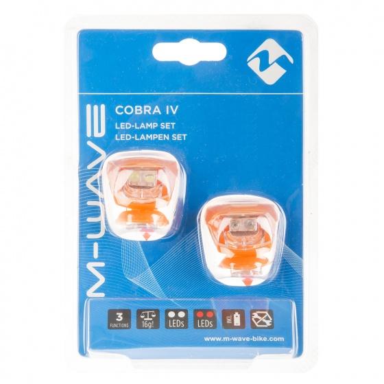 M Wave Verlichtingsset LED Oranje 2 Stuks
