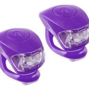 M Wave Verlichtingsset LED Paars 2 Stuks