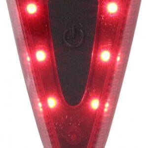 Mighty achterlicht fietshelm Move zwart/rood