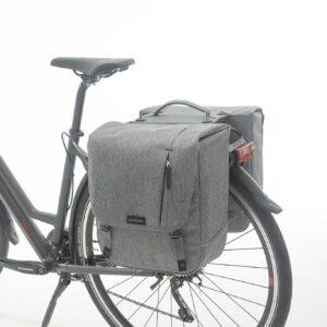 New Looxs Dubbele fietstas New Looxs Nova Double Racktime - 32 liter - grijs