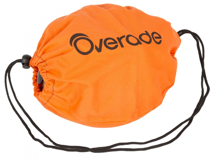 Overade Opbergtas opvouwbare helm textiel oranje