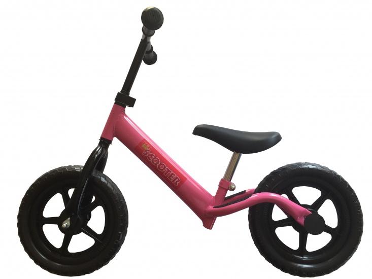 Pexkids - Kinder Scooter Loopfiets 12 Inch Meisjes Roze