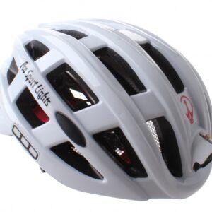 Pro Sport Lights fietshelm met verlichting unisex wit mt 49 59