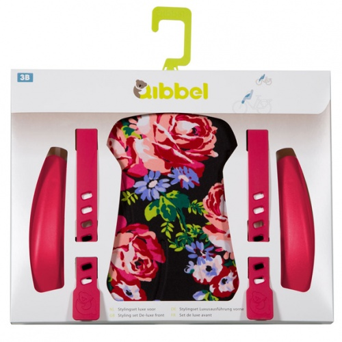 Qibbel Stylingset Luxe Fietszitje Voor Blossom Roses Black