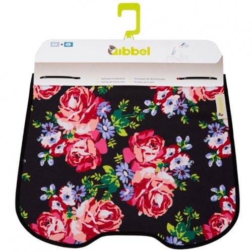 Qibbel Stylingset Windschermflap Blossom Roses Black