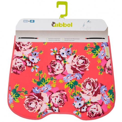 Qibbel Stylingset Windschermflap Blossom Roses Coral