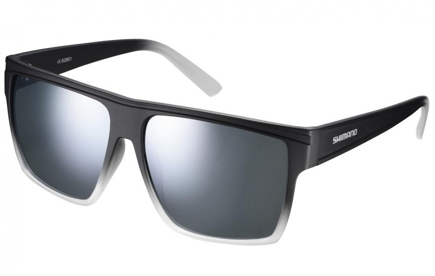 Shimano fietsbril Square unisex zilver spiegelend zwart/wit