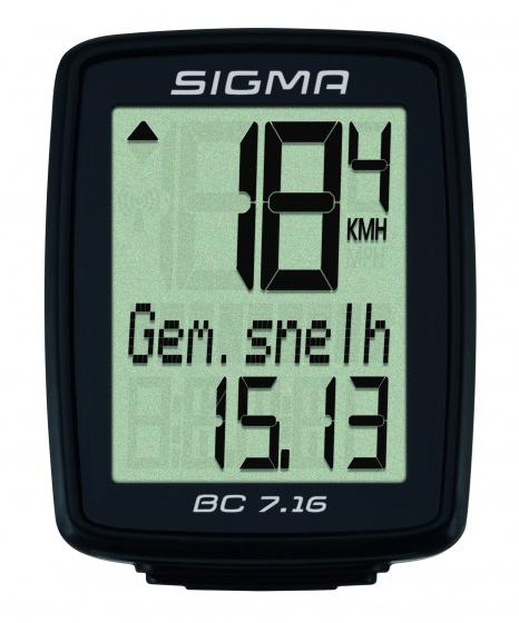 Sigma fietscomputer BC 7.16 zwart