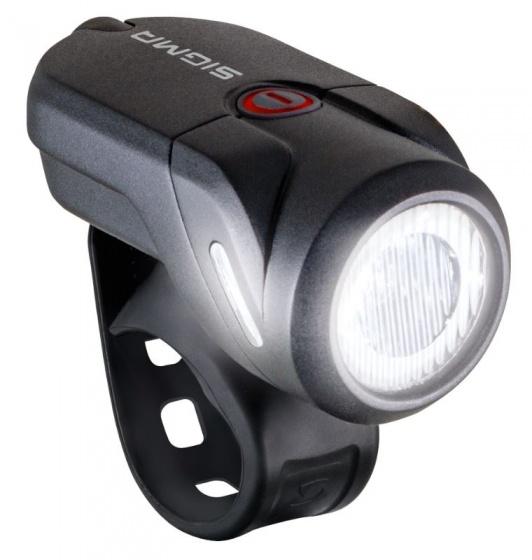 Sigma koplamp Aura 35 led oplaadbaar zwart