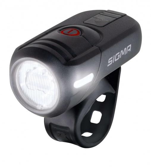 Sigma koplamp Aura 45 led oplaadbaar zwart