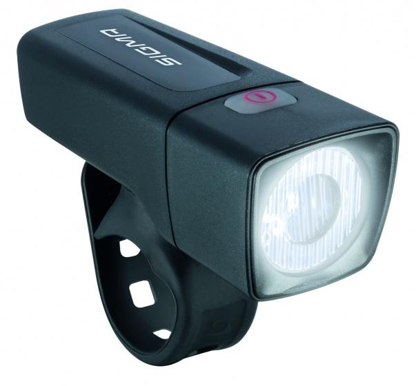 Sigma koplamp Aura batterij led zwart