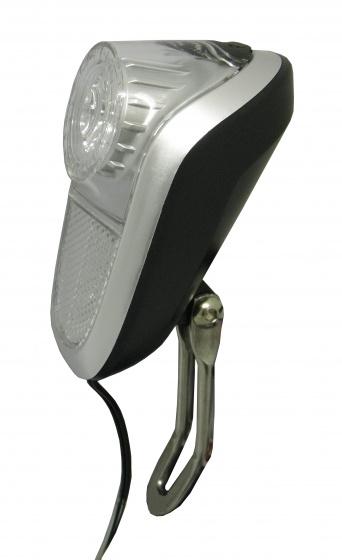 Simson voorlicht naafdynamo led zwart/zilver