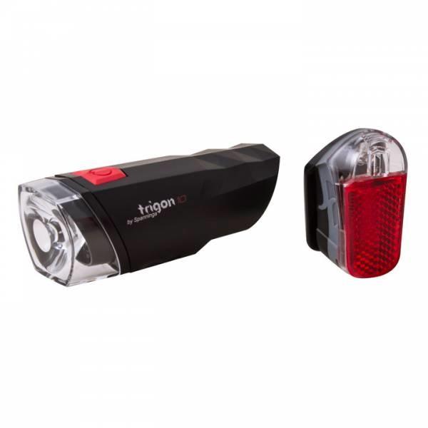 Spanninga Verlichtingset Spanninga Trigon 10 + Pyro - Batterij