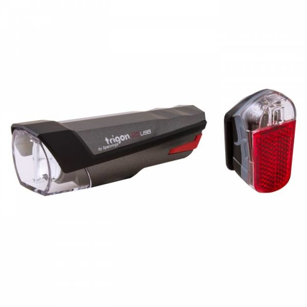 Spanninga Verlichtingset Spanninga Trigon 25 + Pyro - USB oplaadbaar