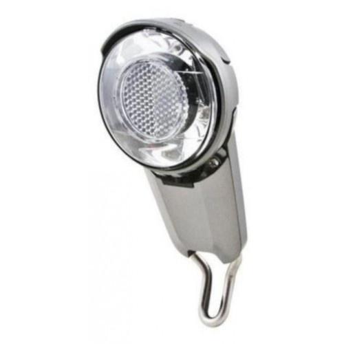 Spanninga koplamp Corona Xdas 40 Lux naafdynamo led zilver