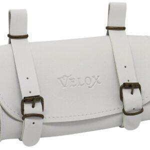 Velox zadeltas Vintage 0,6 liter skai leder 17cm wit