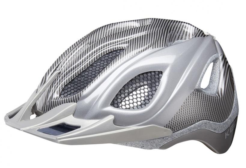 KED fietshelm Certus K Star unisex zilver maat 52 58 cm