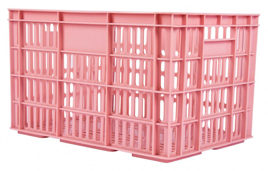 AMIGO fietskrat kunststof 33,6 liter roze