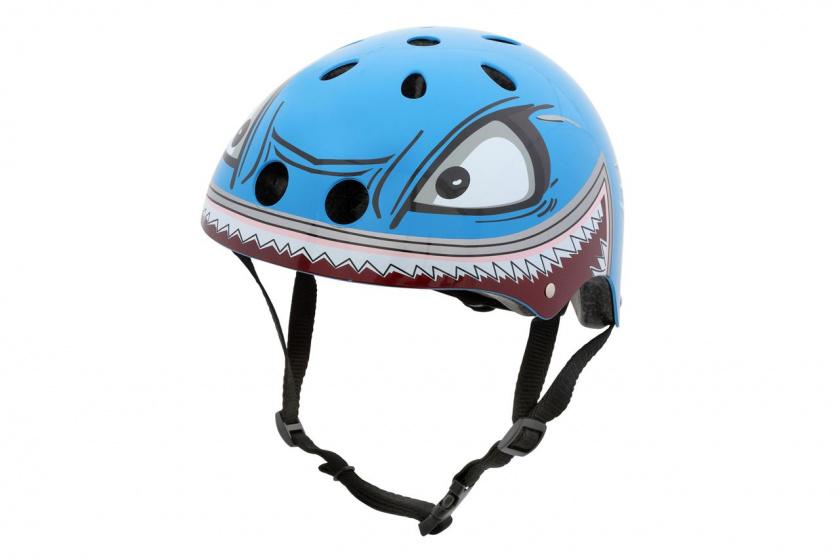 Hornit fietshelm voor kinderen haai maat S lichtblauw