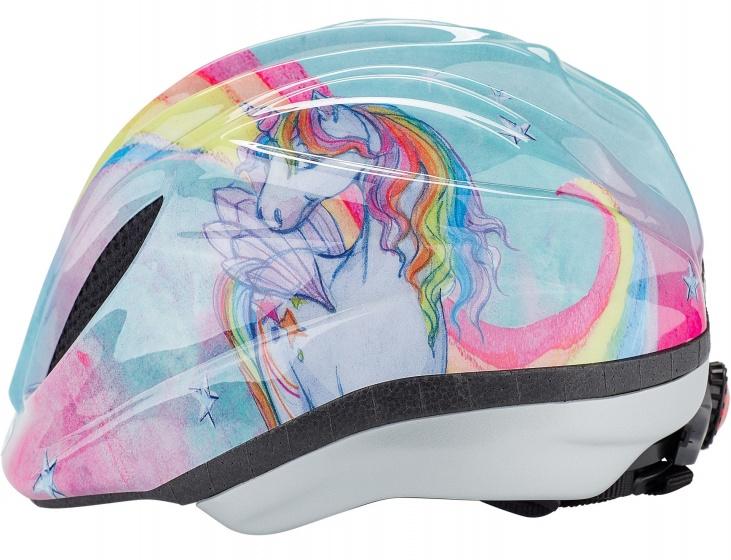 KED fietshelm Meggy Eenhoorn meisjes lichtblauw maat 44 49 cm