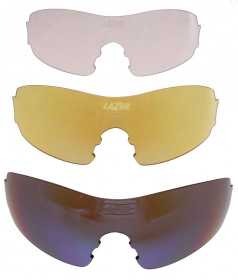 Lazer lenzenset fietsbril M1 blauw/geel/transparant