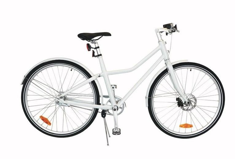 TOM City Bike Deluxe 26 Inch 45 cm Unisex 2V Schijfrem Wit