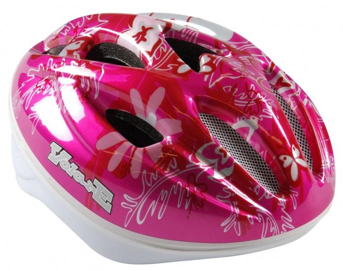Volare Fiets Skatehelm Deluxe vlinder roze maat 51 55 cm