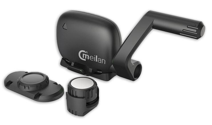 Meilan snelheids /cadanssensor Bluetooth C3 35 cm zwart 3 delig