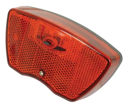 Dresco achterlicht met reflector 3 led batterijen rood/zwart