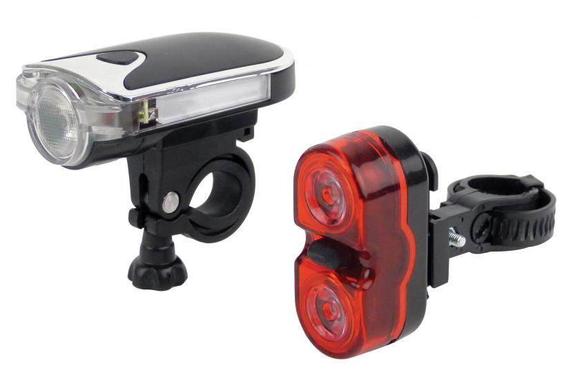 Dresco verlichtingsset Modern led batterijen rood/wit/zwart