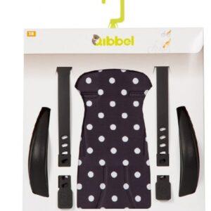 Qibbel - Luxe Stylingset Fietszitje Voor Polka Dot Zwart