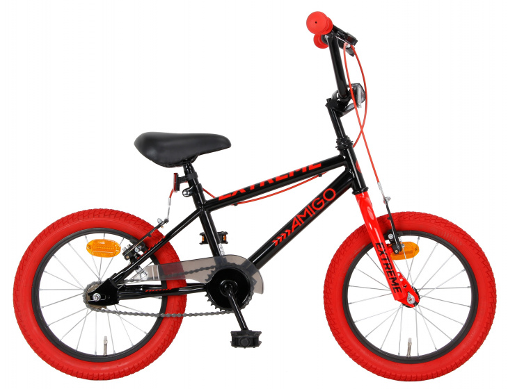 Amigo - Extreme 16 Inch 25,4 Cm Junior V-brakes Zwart/rood