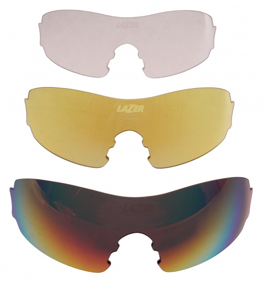 Lazer lenzenset fietsbril M1 rood/geel/transparant