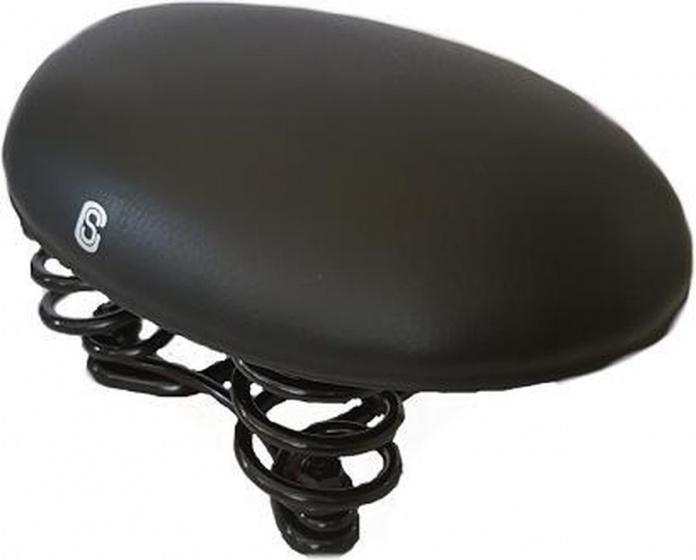 Selle Comfort rokzadel 14,5 x 23 cm dames gel/staal zwart