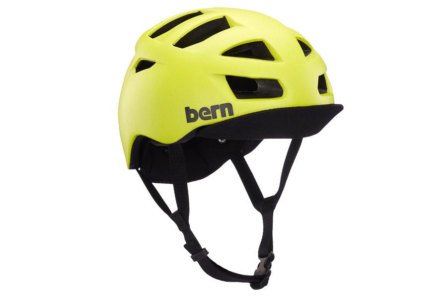 Bern Allston Matte Hyper Green Helm