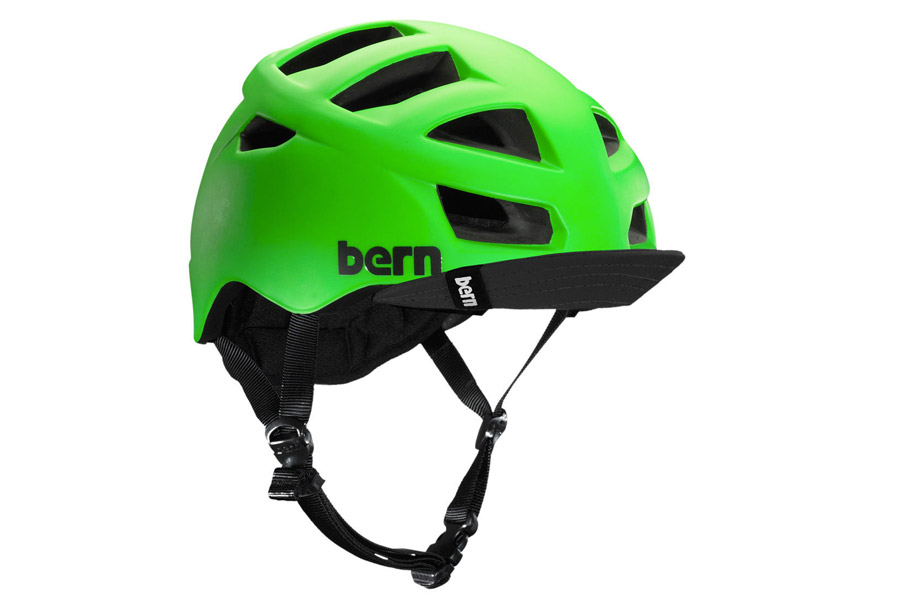 Bern Allston Matte Neon Green Helm