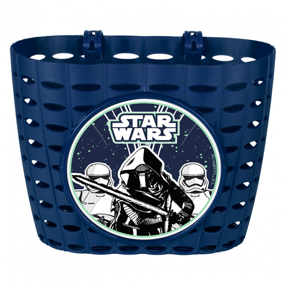Disney fietsmand Star Wars First Order junior 20 cm blauw