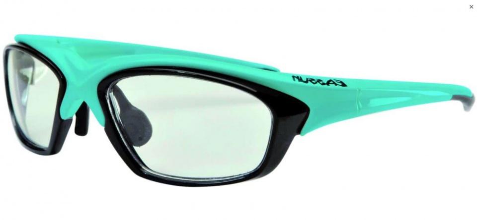 Eassun fietsbril RX helder glas montuur blauw/zwart