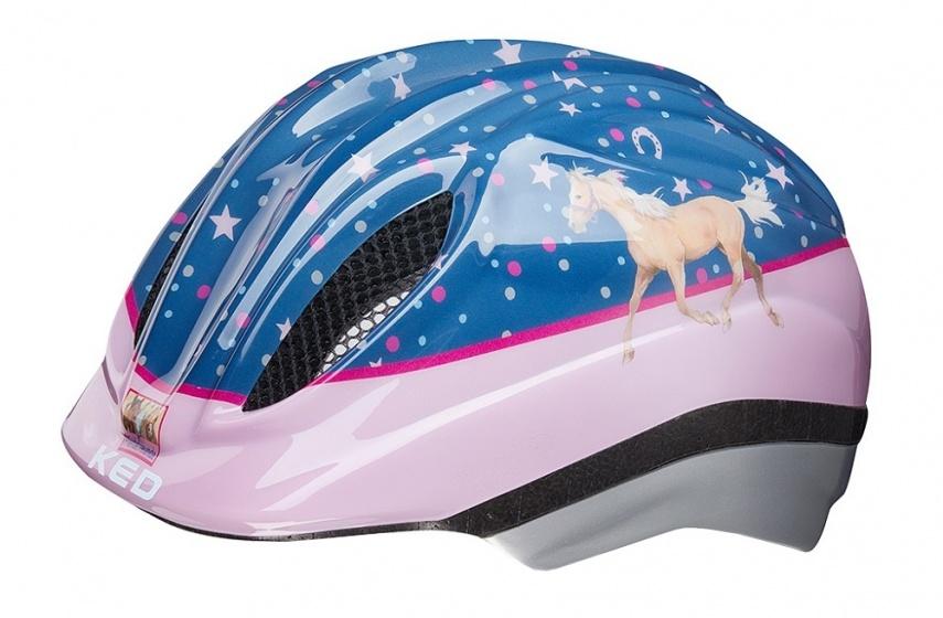 KED fietshelm Meggy Originals meisjes blauw/roze maat 52 58 cm