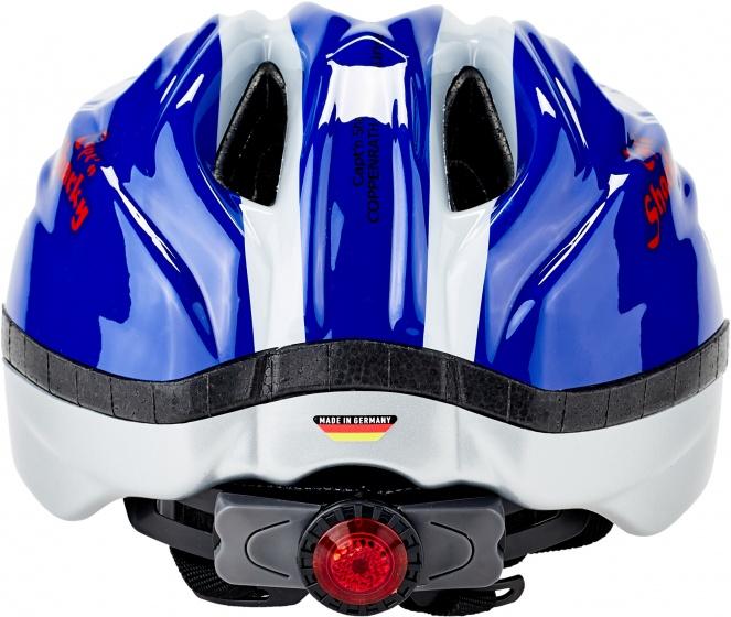 KED fietshelm Meggy Sharky jongens blauw/wit maat 46 51 cm