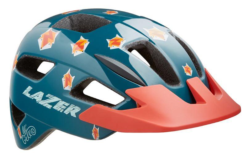 Lazer fietshelm Lil Gekko Fox junior 46 50 cm blauw/roze