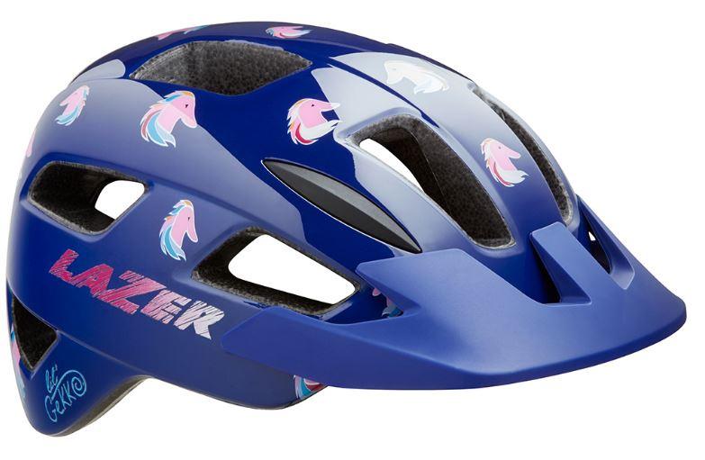Lazer fietshelm Lil Gekko Pony junior 46 50 cm blauw/roze