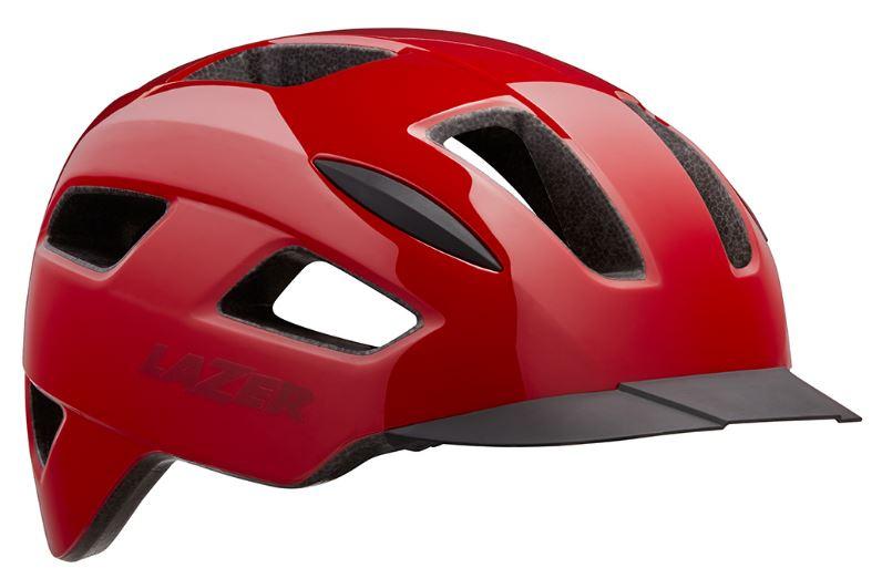 Lazer fietshelm Lizard 58 61 cm polycarbonaat rood maat L