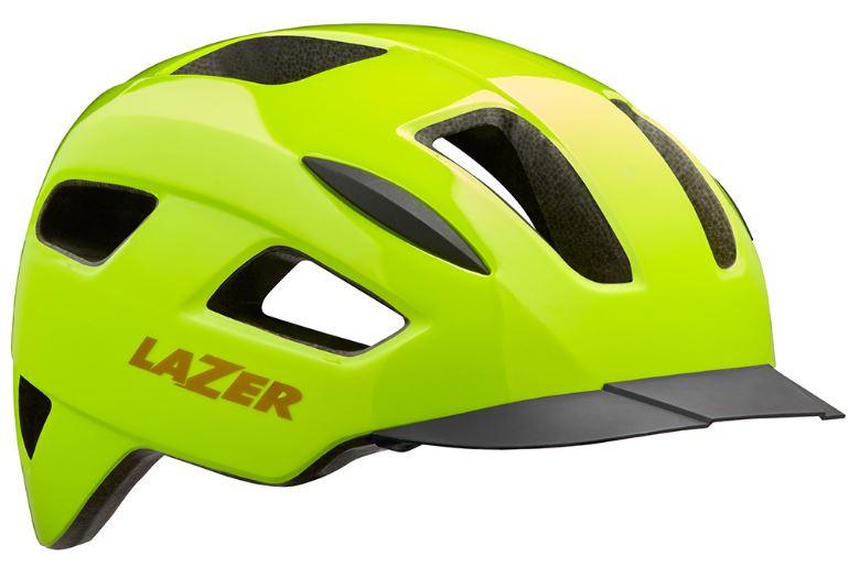 Lazer fietshelm Lizard polycarbonaat geel maat 55 59 cm