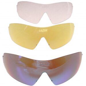 Lazer lenzenset fietsbril M1 S (metalen neusstuk) 3 delig blauw