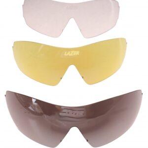 Lazer lenzenset fietsbril M1 S (metalen neusstuk) 3 delig zwart