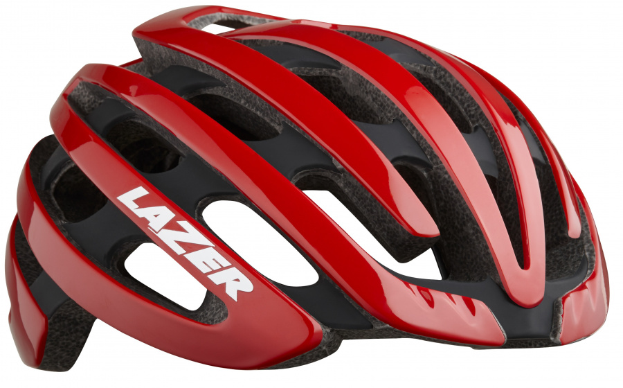 Lazer racefiets helm Z1 EPS schuim rood 4 delig mt S