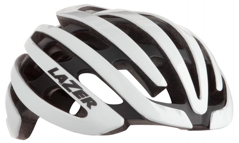 Lazer racefiets helm Z1 EPS schuim wit 4 delig mt S