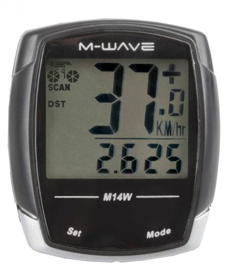 M Wave Fietscomputer 14 Functies Zwart